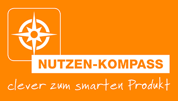 Nutzen Kompass Logo orange